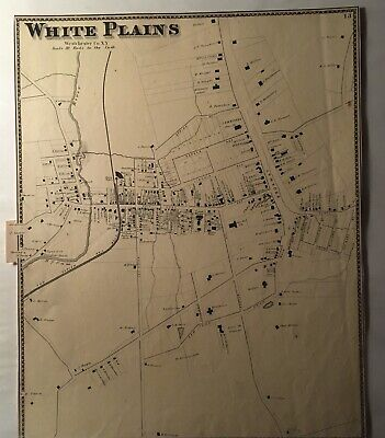 1867 Map of White Plains, NY. Beers, Ellis & Soule