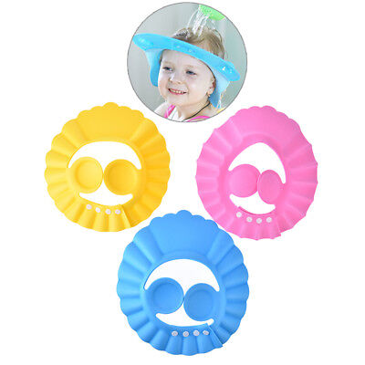 1pc adjustable baby kids shampoo bath bathing shower cap hat wash hair shield fj