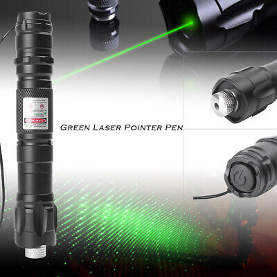 1xMilitary High Power 532nm Green Laser Pointer Pen Visible Beam Light Lazer Hot