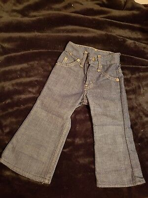 Levis Vintage Blue Denim Double Knee Bell Bottom Jeans Kids Toddler Size 2