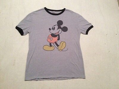33b8ca1c Vintage Retro Style Mickey Mouse Ringer T-Shirt Medium Disney Excellent!