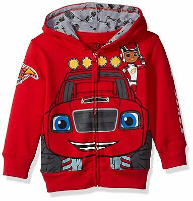 Blaze NEW Red Baby Boys USA 2T Monster Machines Graphic Hooded Sweater $30 388