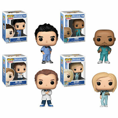 Funko POP! Television - Scrubs Vinyl Figures - SET OF 4 (Turk, JD, Dr. Cox +)