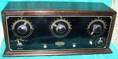 1924-25  Dayfan OEM-7 Four Tube TRF Battery Radio / Exc Cond / Working /  O1A's