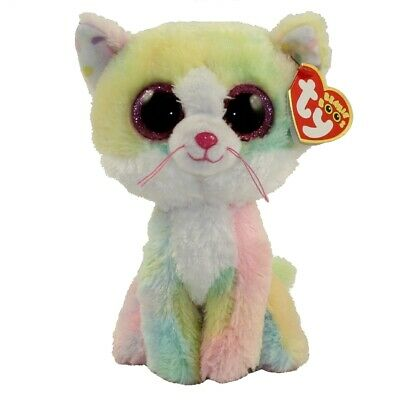 TY BEANIE BOOS - FLUFFY the Pastel Cat (Glitter Eyes) (6 inch ... 26d3380052bc