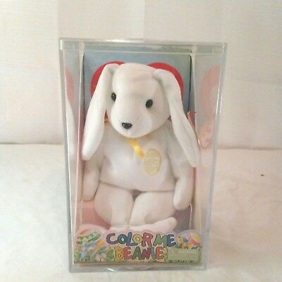 33fc5fe868a TY Color Me Beanie Baby White Bunny Rabbit Plush w Markers New in Box