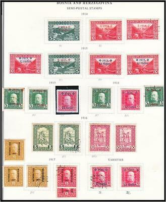 1904-18 BOSNIA/Austria 90 Stamps Back-of-Book Charity Postage Due Newspaper usw.