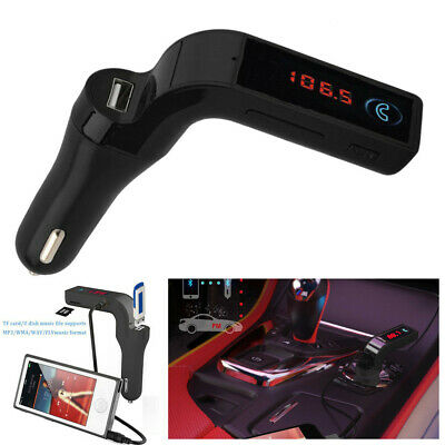 Bluetooth Car Kit Handsfree FM Transmitter Radio MP3 Player USB Charger & AUX 4S