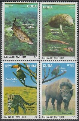 CARIBBEAN 2016 FAUNA BIRDS FISHES LEOPARD BISON MNH SET in GOOD QUALITY ***