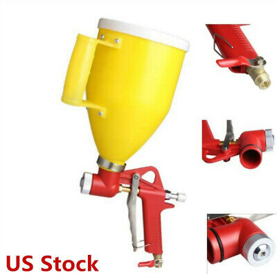 3 Nozzle Air Hopper Spray Gun Paint Texture Drywall Wall Painting Sprayer Tool
