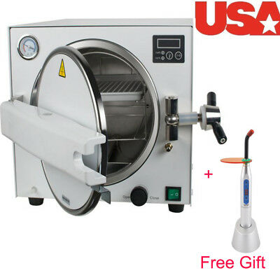 CE Dental Equipment Stainless Steel 18L Medical Steam Sterilizer Autoclave +Tray