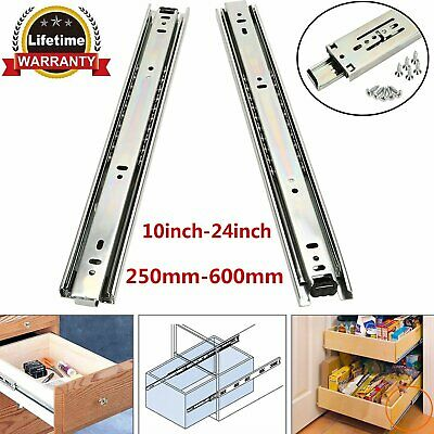 """10""""-24"""" Ball Bearing Drawer Runners For Grooved Drawer Sides / Chest Of Drawers"""