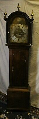 1788 Brass Face 8 Day Grandfather Clock by-Hector Simpson of London