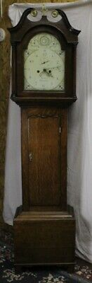 White Painted Face 8 Day Grandfather Clock by Francis Wymondham -Masons