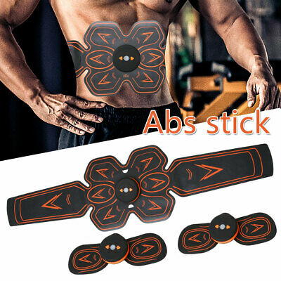 Rechargeable Abdominal Muscle Trainer Arm Stimulator Training Smart EMS ABS Belt
