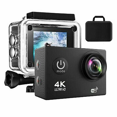 "Sports Camera 4K 16MP WiFi FHD 2.0"" LCD Waterproof 170° Action Camcorder Go Pro"