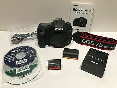 Canon EOS 7D Mark II 20.2MP Digital SLR Camera Body -Near Mint - Shutter Ct 4075