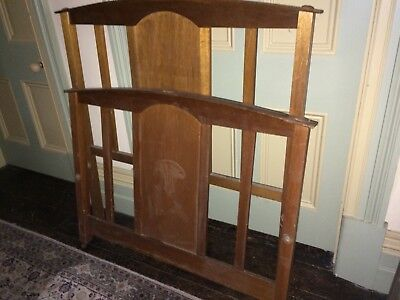 Antique Wooden Bed Ends Early 1900s