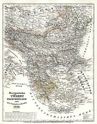 1849-52 Meyer - F. Radefeld very detailed map of Greece - Original