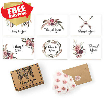 xo, Fetti Rustic Thank You Cards - Baby Shower, Wedding, Business | Set of...