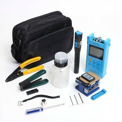 Fiber Optic FTTH Tool Kit With FC-6S Cutter Cleaver Optical Power Meter New
