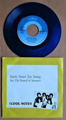 """Single 7""""   THE COOL NOTES  """"Your Never Too Young"""" - 1984 - BLAUES VENYL - TOP."""