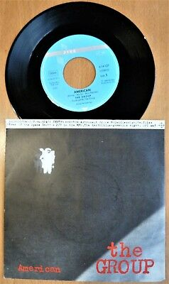 """Single 7"""" THE GROUP  """"American"""" + """"White Hammer"""" (Dub Mix) 1984 - MIT INFO FACTS"""