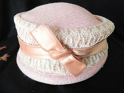 Vintage Pink 50s / 60s Style Pill Box Hat