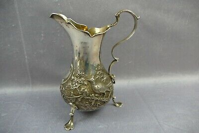 Antikes Milchkännchen London 1842 Edward Farrell 925 Sterling milk jug solid