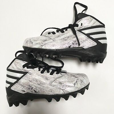 online store 38676 46a17 Adidas Freak Mid Junior Football Lacrosse Cleats Size 11 Youth White  Platinum
