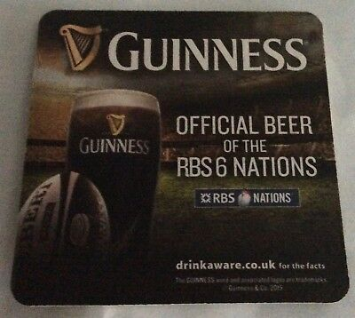 Guinness six nations beer mat/coaster new