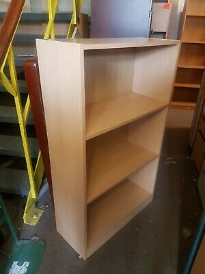 Light Beech effect office bookcase  with 2 shelves