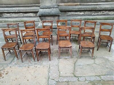 Vintage Church Chapel Chairs Solid Wood - Pub, restaurant, kitchen chairs