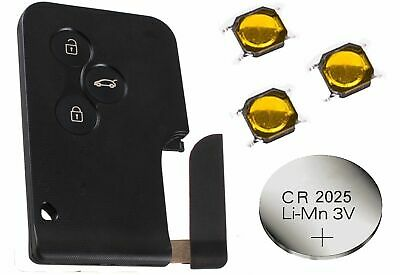 Fits Renault Megane Scenic Clio 3 Button Remote key card Fix Refurbishment Kit