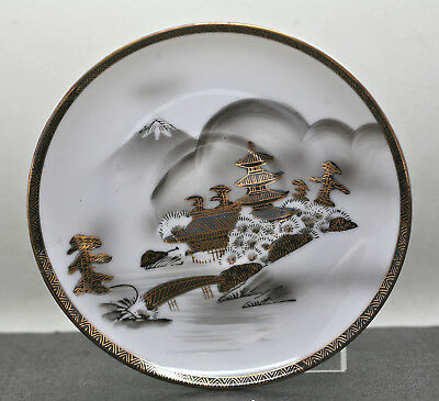 Beautiful Japanese Kutani Hayasi Hand Painted Porcelain Plate Export Ware c1920s