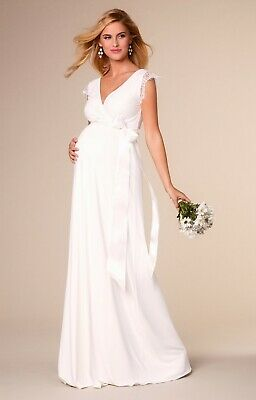 dad4c332ea79a Tiffany Rose Maternity Bridal Dress - Rosa Gown Long (Ivory) Size 2 (UK