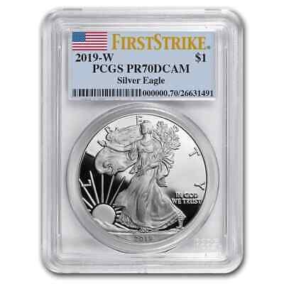 2019-W Silver American Eagle PR-70 PCGS (First Strike) - SKU#177826