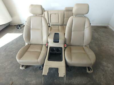 07-14 Chevrolet Silverado 1500 2500 Front Rear Seat Console Tan Leather Power