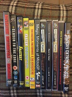 Motorcycle DVD Bundle Moto GP, Guy Martin Overland Travel Charlie Boorman