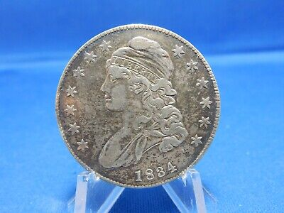 1834 Capped Bust Silver Half Dollar - Cleaned, Fine