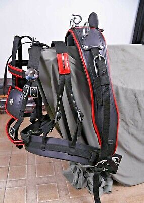 New Strong Driving Cart Harness Set Two Tone Black/red For Single Horse