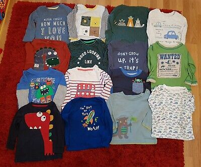 Baby Boy Clothes Bundle 12-18 Months - 105 Items Tops Trousers Coats Sleep Suits
