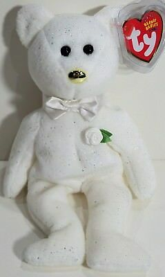 """TY Beanie Babies """"HIS"""" GROOM Wedding Teddy Bear MWMTs! NEW! Ty Store Exclusive!"""