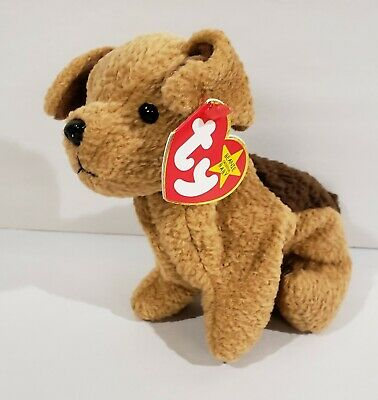 """Ty Beanie Baby Babies ~TUFFY the TERRIER DOG Plush 5"""" 1996 Retired-Free Shipping"""