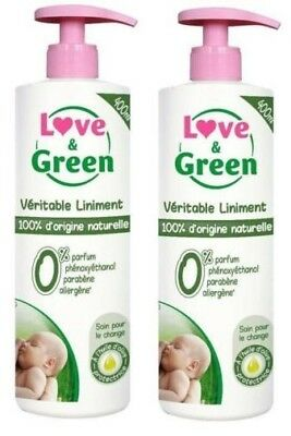 Véritable Liniment 100% Naturel LOVE & GREEN 400ml (lot de 2)