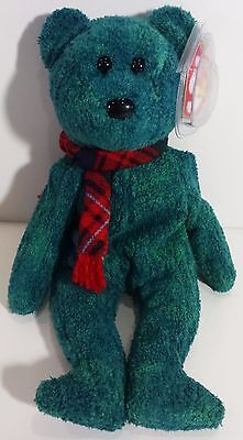 """TY Beanie Babies """"WALLACE"""" the Christmas Holiday Teddy Bear - MWMTs! A MUST HAVE"""