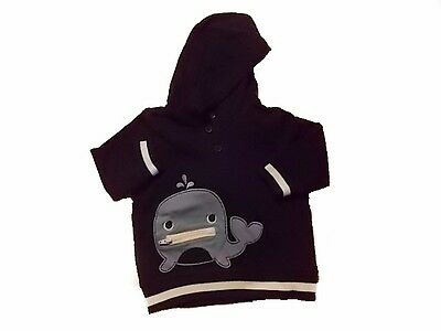 NWT Boy's Gymboree Bubbly Whale hoodie shirt top ~ 6-12 months FREE SHIPPING