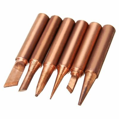 Accessories Soldering Tips 6pcs Kit 6 shapes Copper Solder Iron Free Welding
