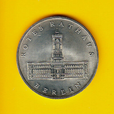 Uncirculated - BU  - GDR East Germany 5 Mark Berlin Rotes Rathaus 1987