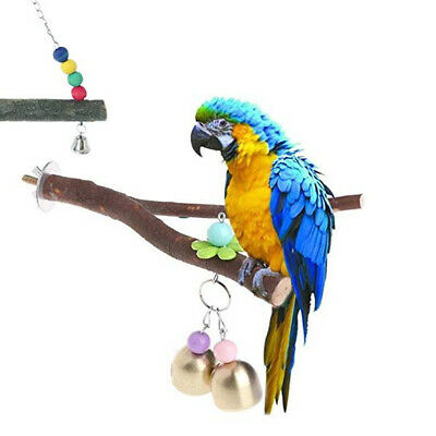 Branch Perch Parrot Parakeet Cockatiel Bird Play Toy Cage Wood Training Perches